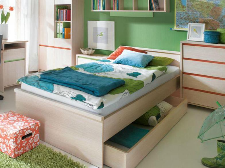 Jednolůžková postel - BRW - Numlock - LOZ/90